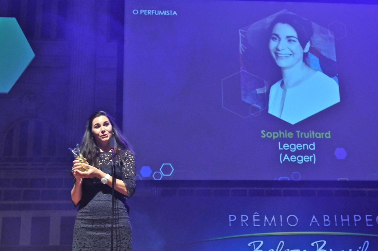Sophie Truitard foi a vencedora da modalidade O Perfumista, com o perfume Legend (Aeger)